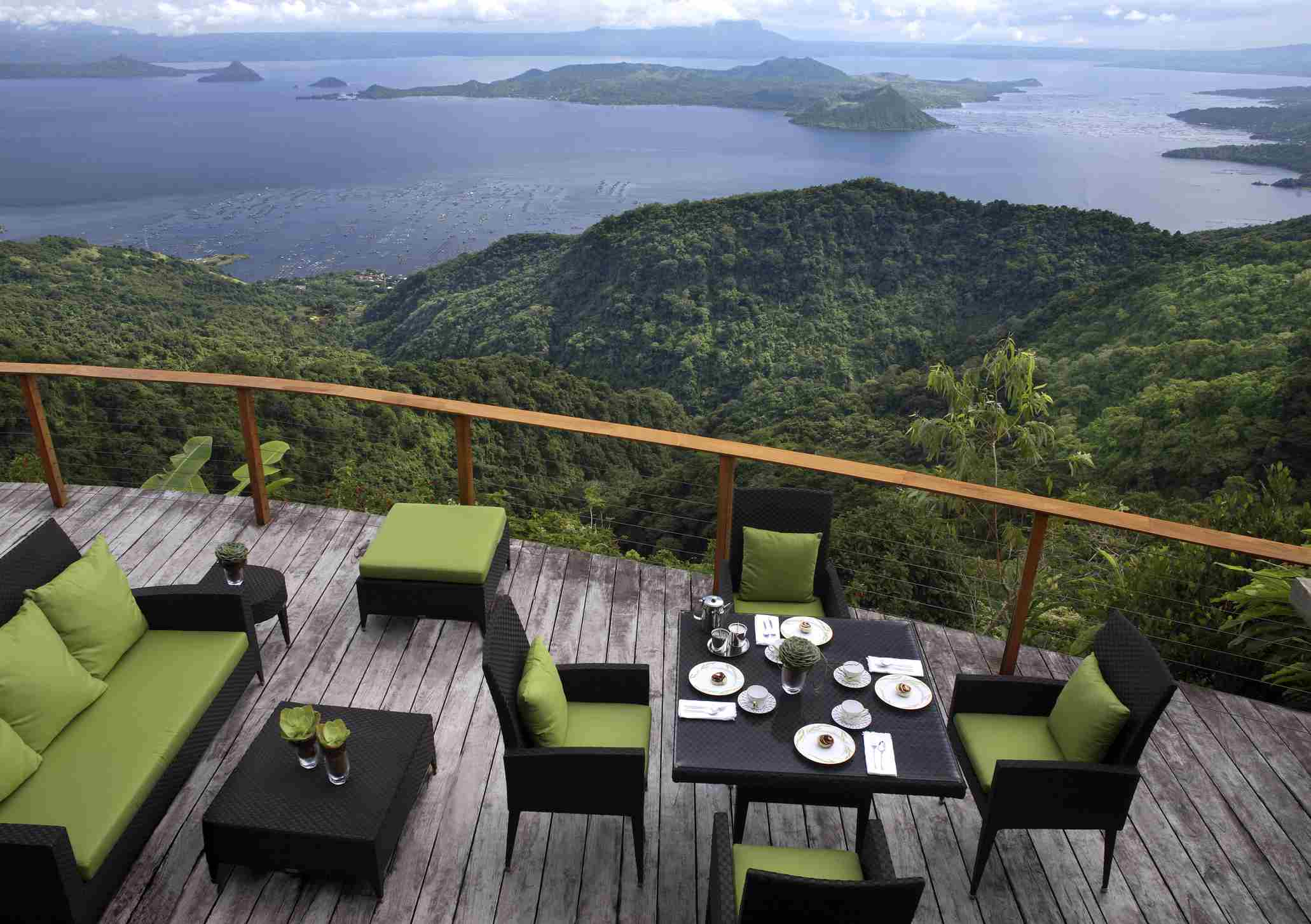Viewdeck overlooking Taal Lake in Tagaytay, Philippines
