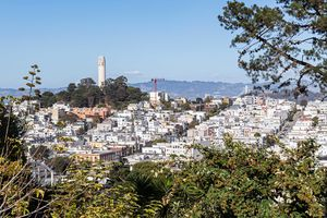 Coit Tower on Telegraph Hill, San Francisco