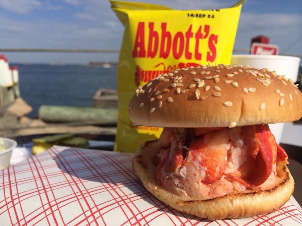 Close up of an Abbott's Lobster Roll