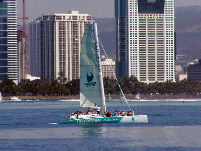 Daily Sails From The Outrigger Waikiki Reef On Beach Catamaran