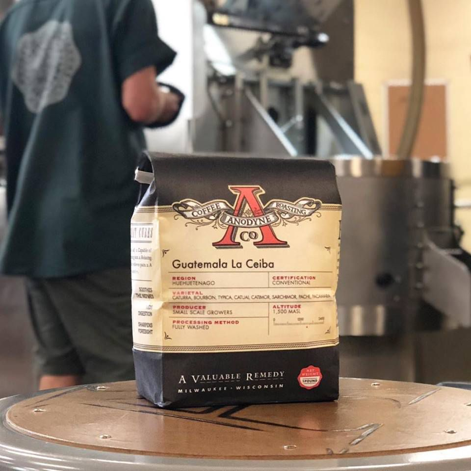 Bag of coffee available for purchase