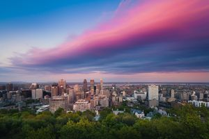 Montreal cityscape at dusk