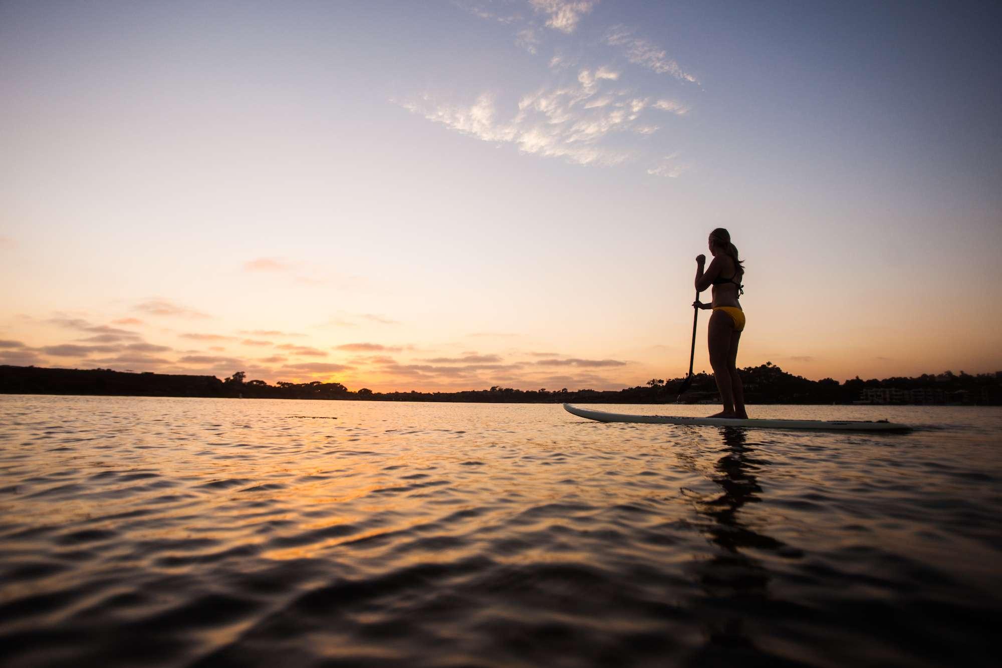 SUP at a lagoon in Carlsbad