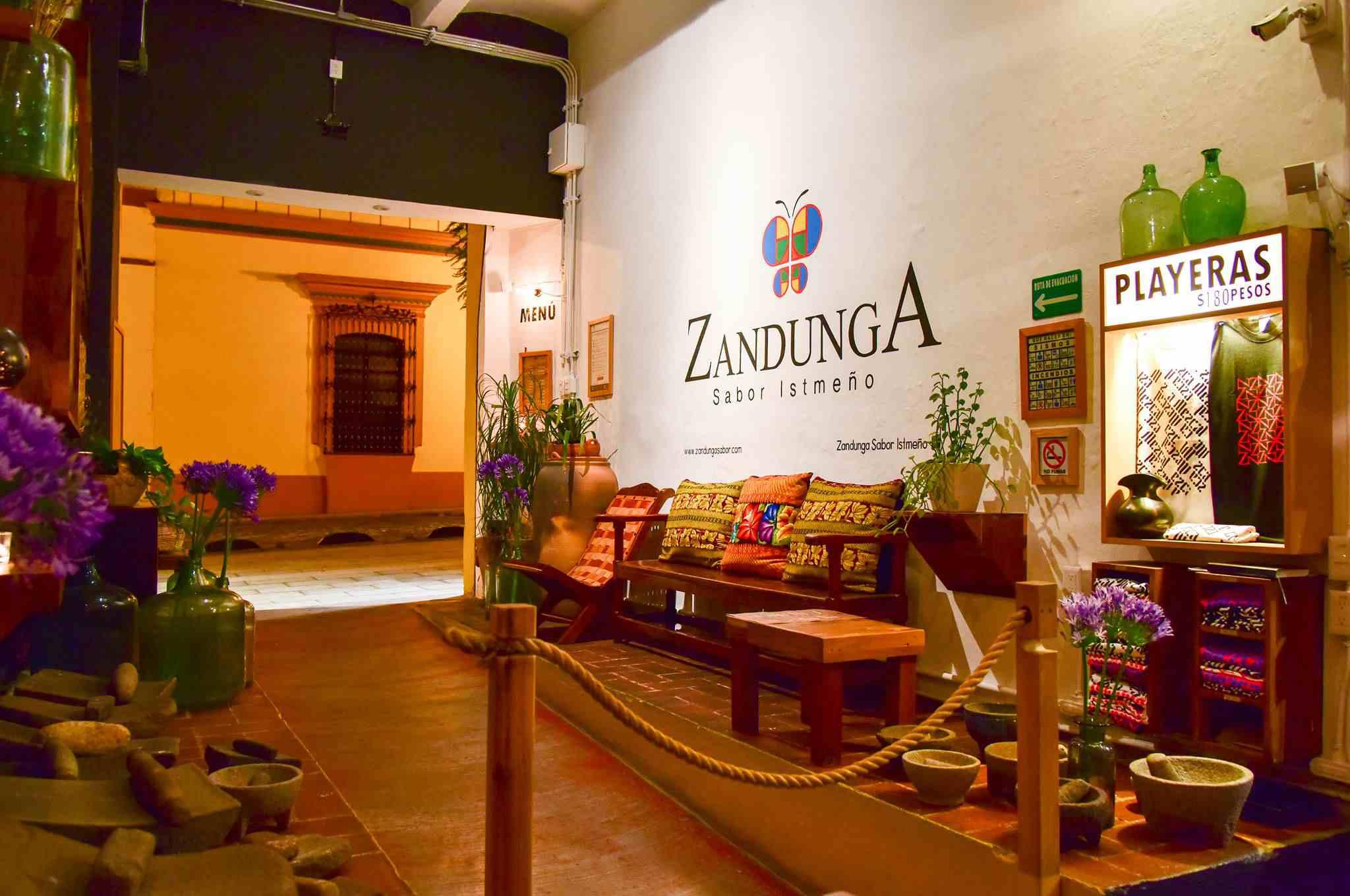 Zandunga restaurant in Oaxaca