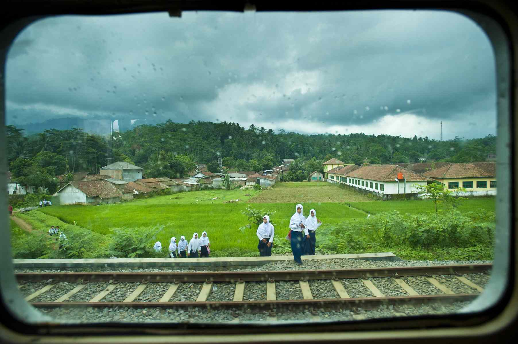 View from Indonesia train window