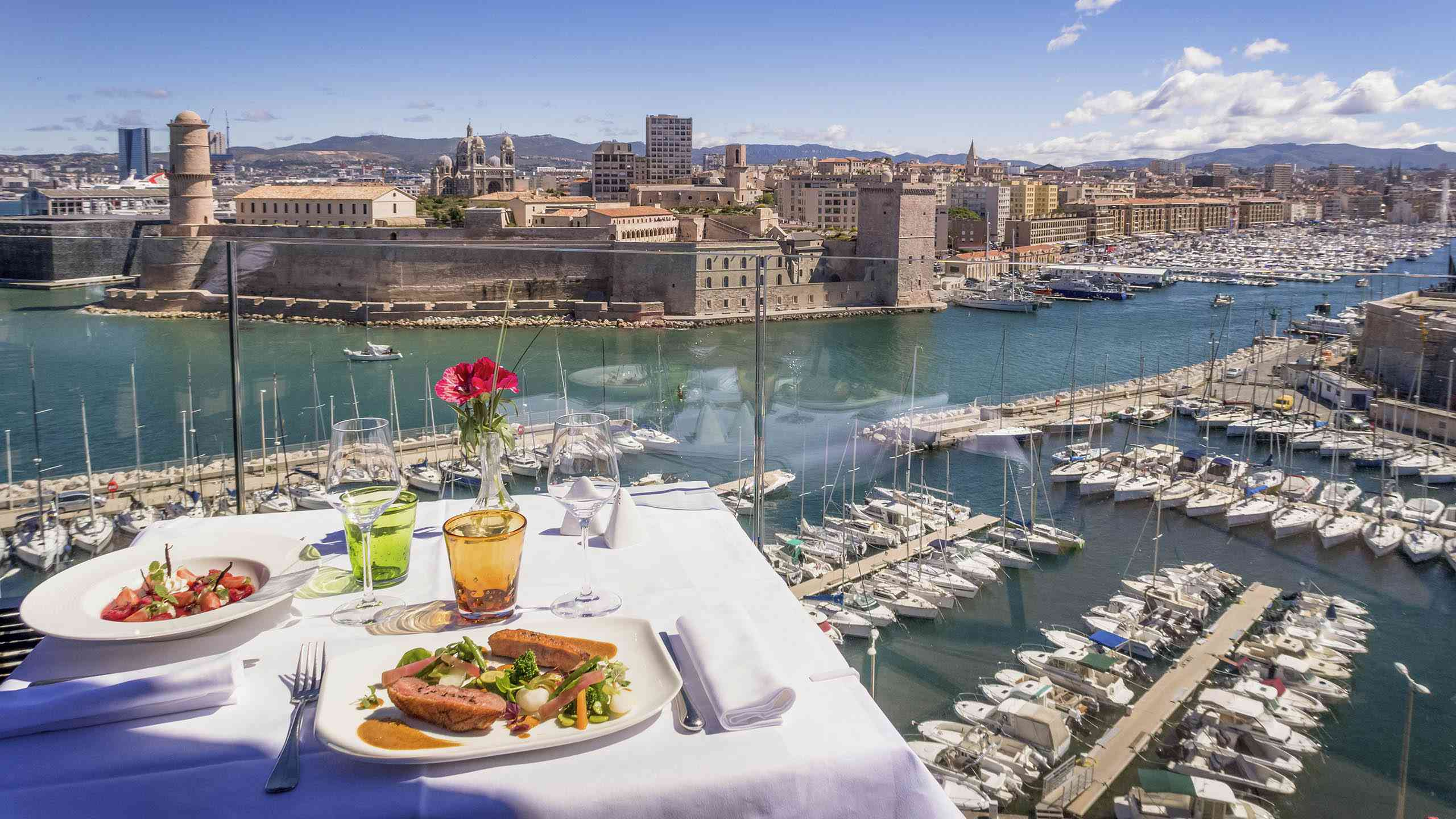 Breakfast with a view at Sofitel Marseille Vieux Port