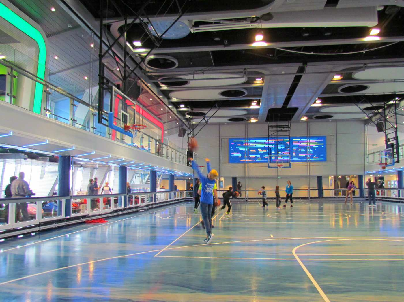 Basketball court in SeaPlex