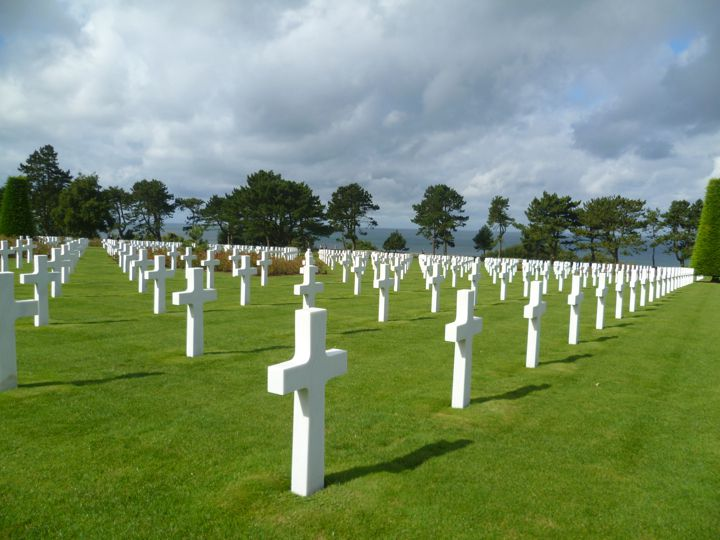 The peaceful American World War II Cemetery in Normandy