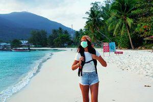 Tourist on empty Thailand beach