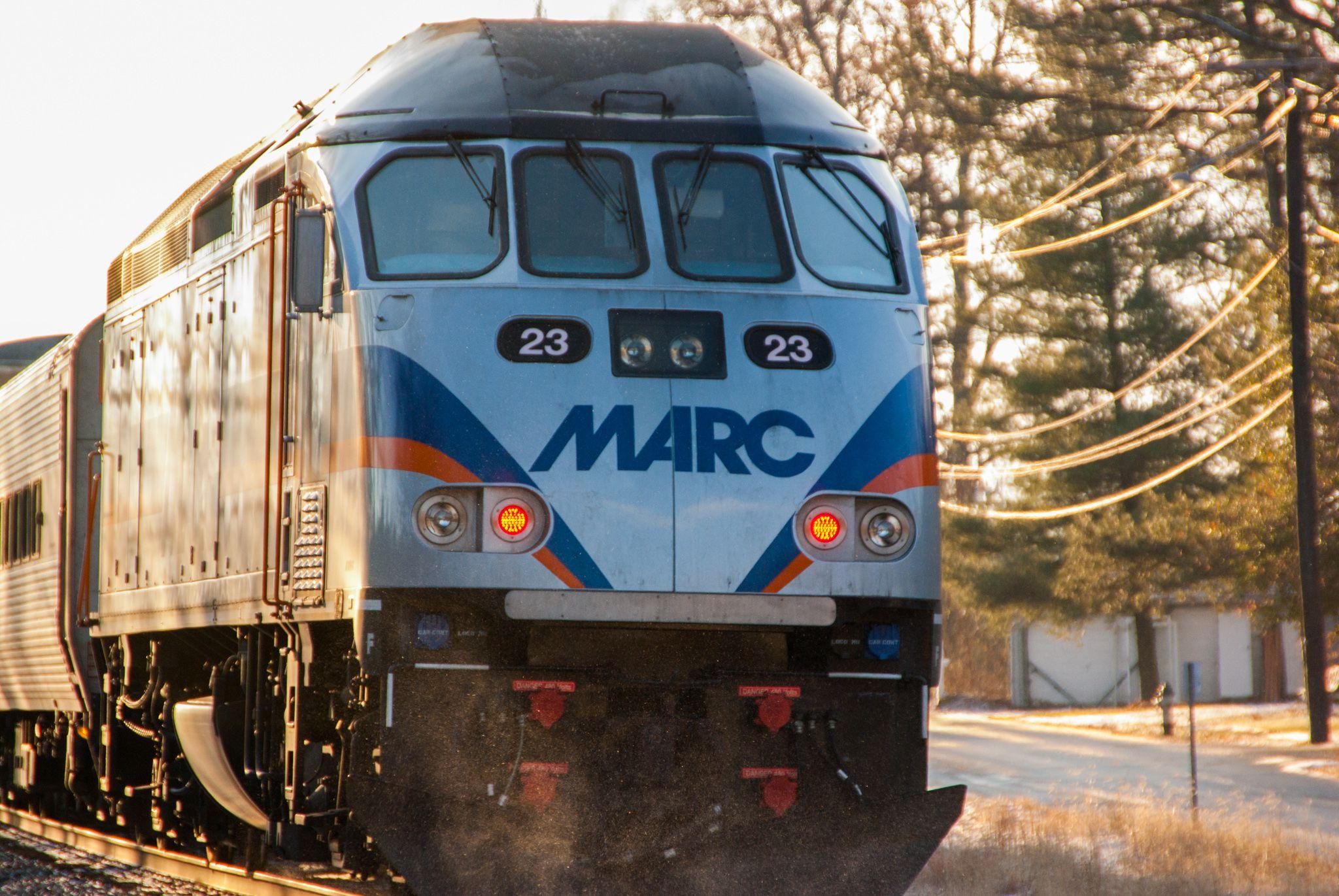 marc train: commuter rail line to washington, d.c.