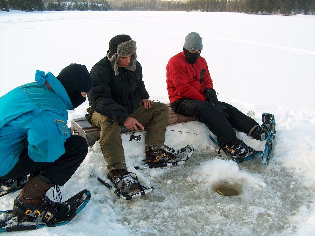Ice fishing at Voyageurs National Park