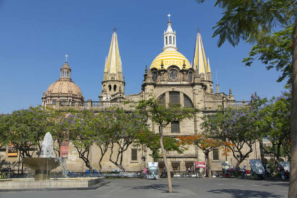 Metropolitan Cathedral, Plaza de la Liberacion, Liberacion Square, Guadalajara, Jalisco, Mexico