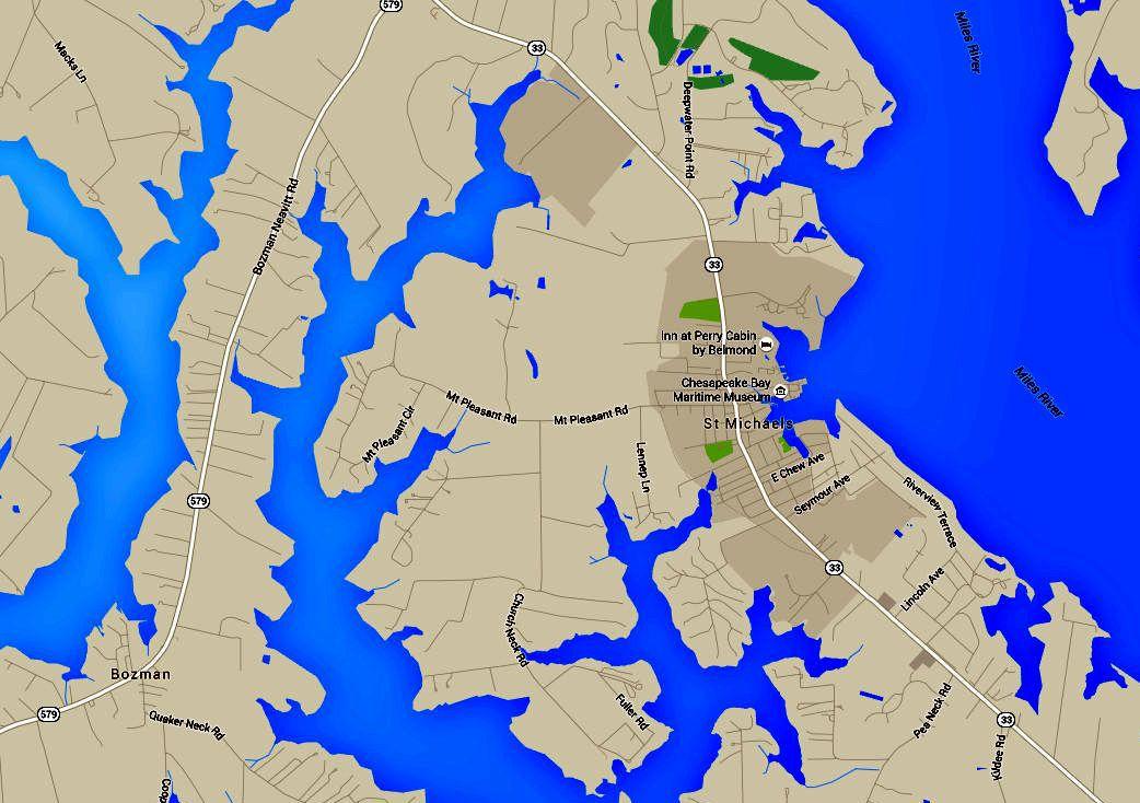 St. Michaels Map