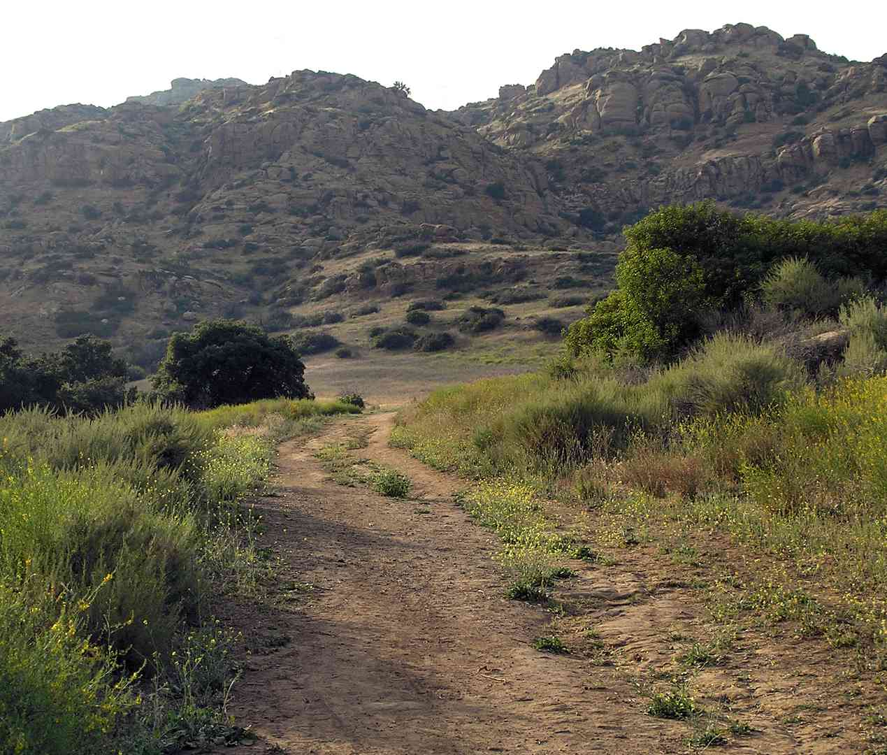 The Spahn Movie Ranch, with a portion of a back road