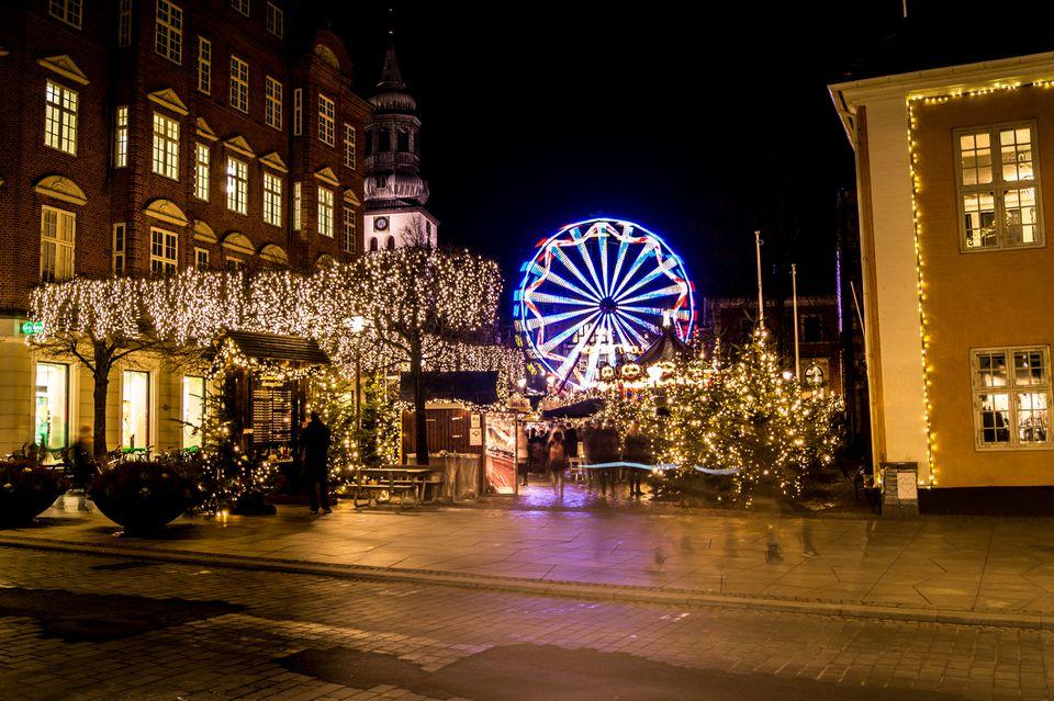 December in Aalborg, Denmark