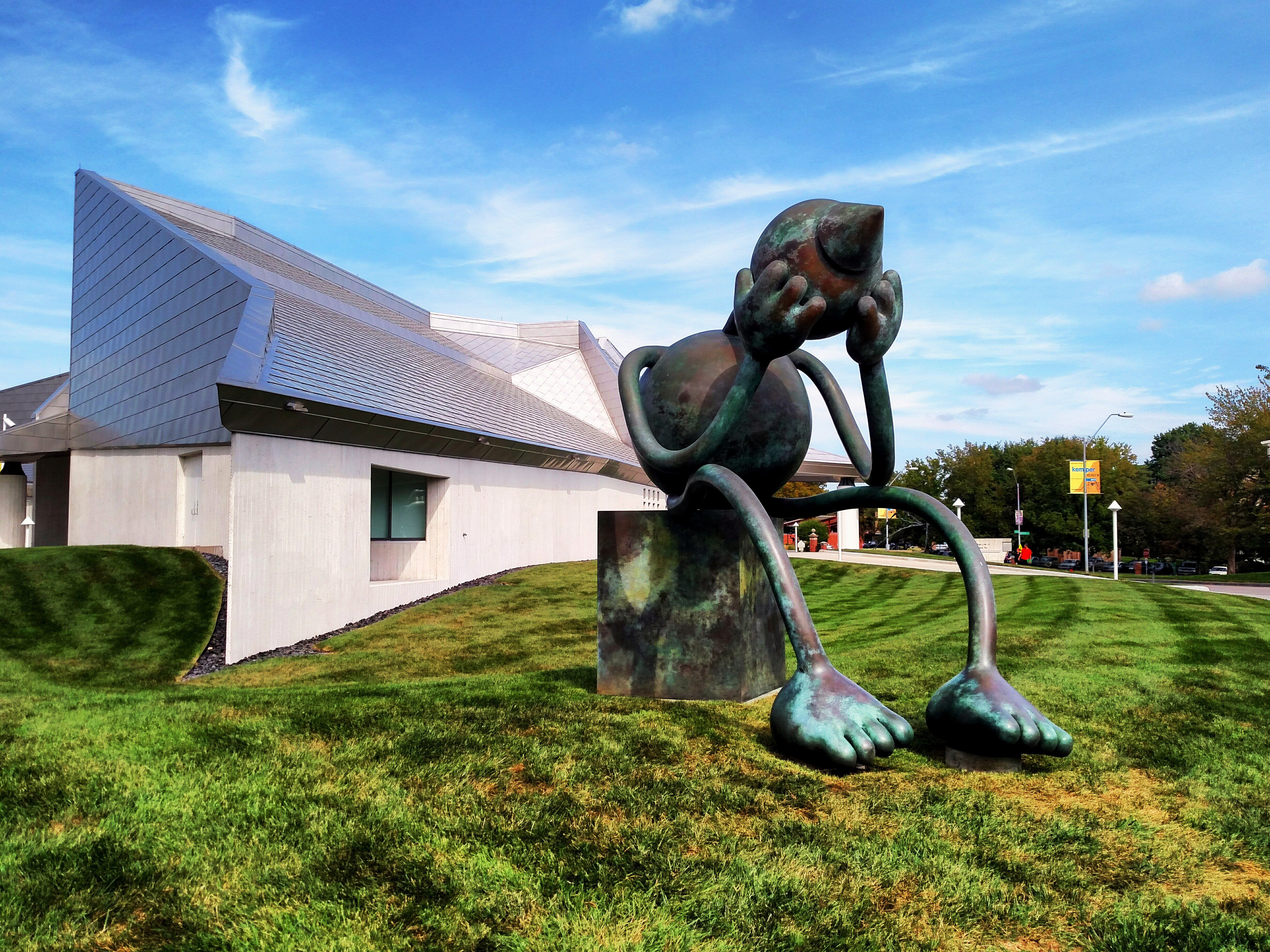 Crying Giant by Tom Otterness, at the Kemper Museum of Contemporary Art in Kansas City, Missouri