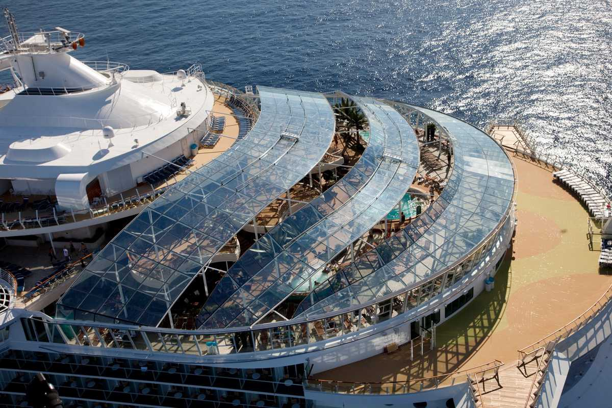 Aerial View of the Oasis of the Seas Solarium