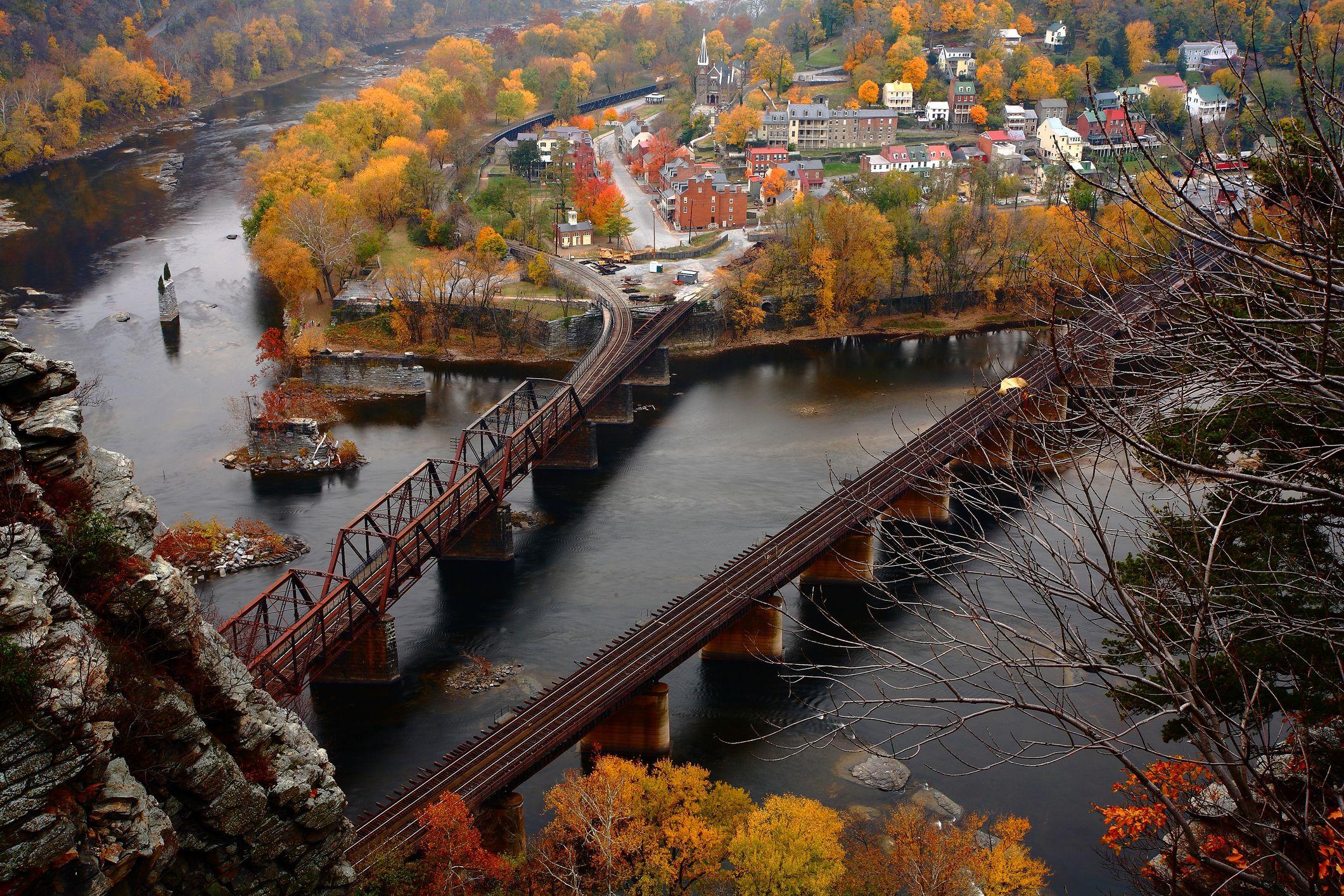 Harpers Ferry en el otoño