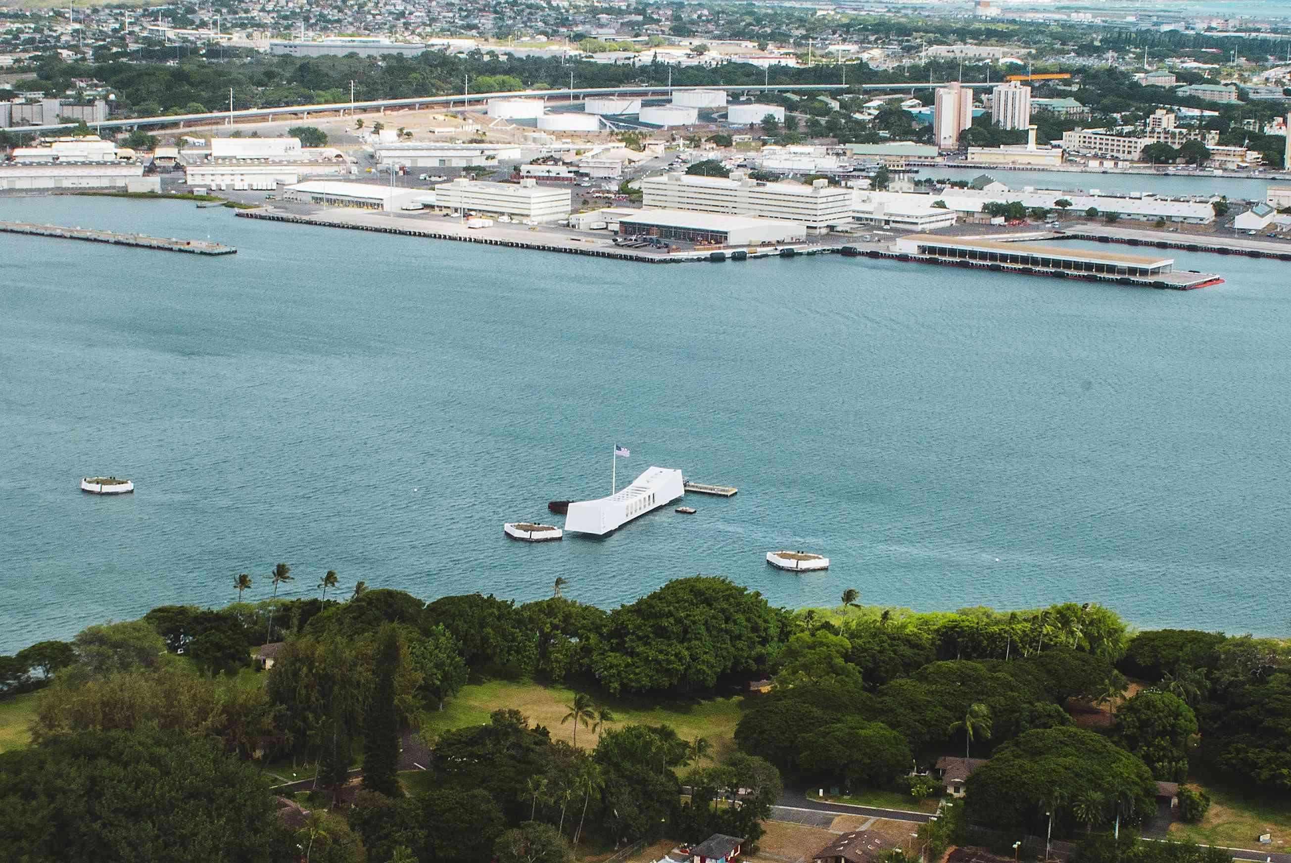 Aerial View of Pearl Harbor
