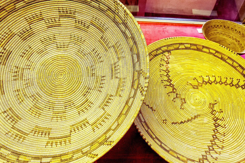 Chumash Indian Baskets, Mission San Buenaventura