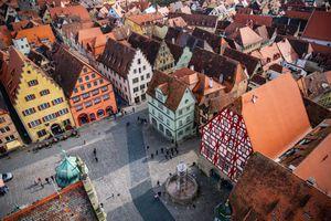 Rothenburg ob der Tauber Rathaus, Germany