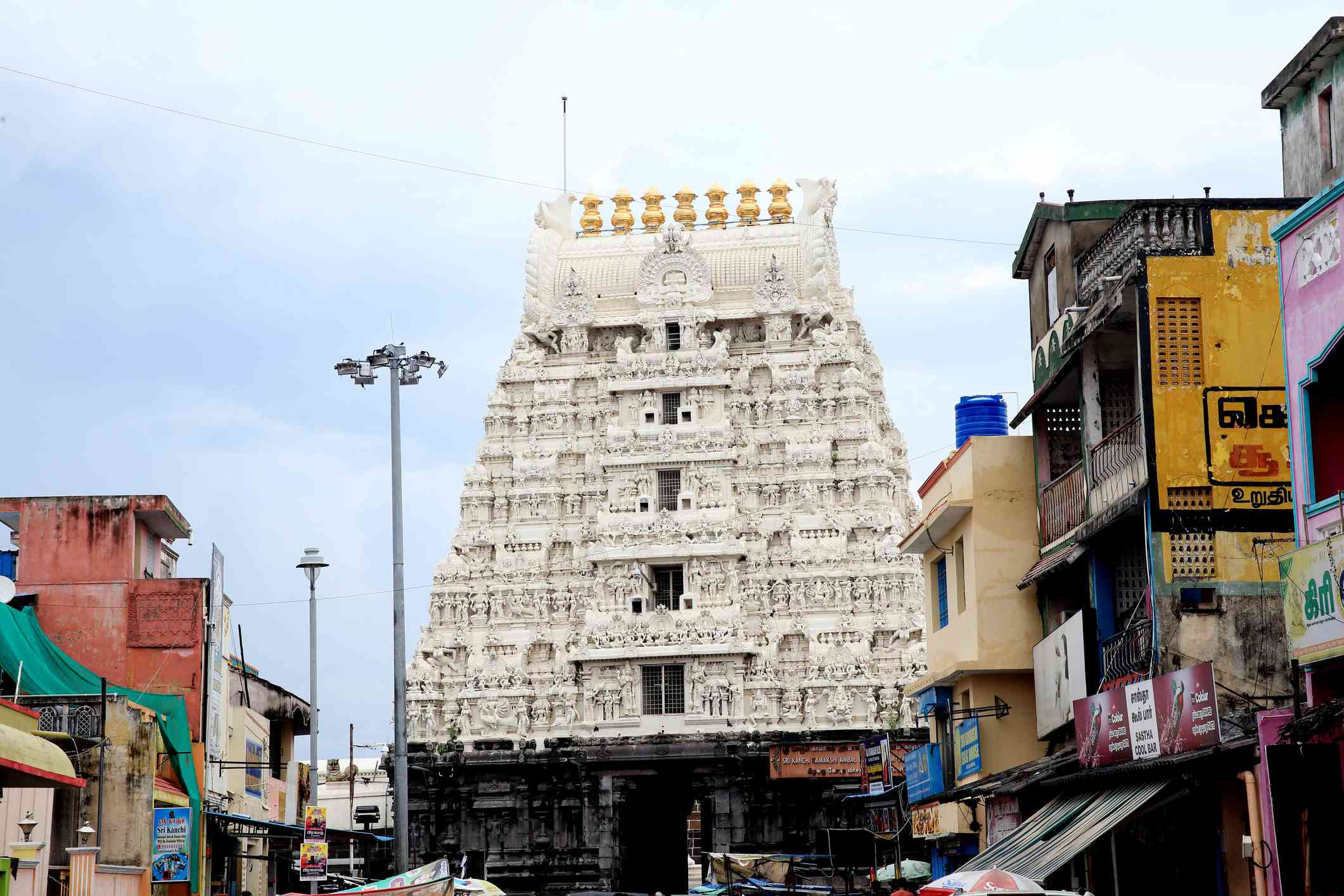 white Varadharaja Perumal Temple, Kanchipuram,Tamil nadu,India