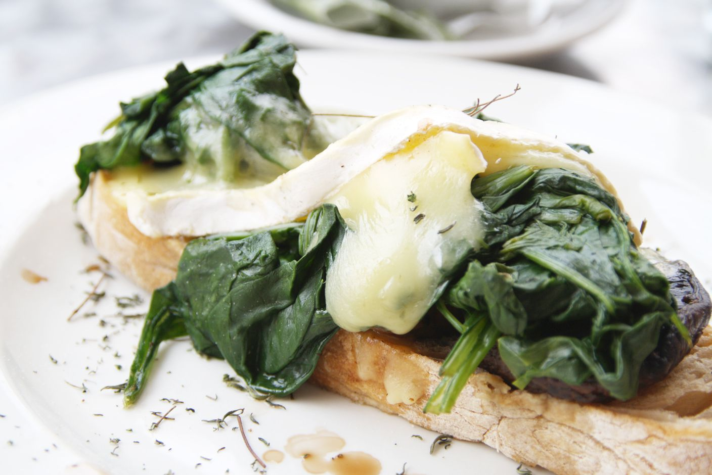 Toast with spinach and melted cheese at Vovo Telo, Port Elizabeth