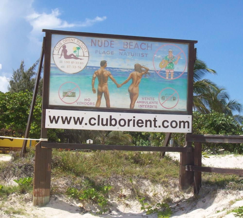 Club Orient sign, St. Martin