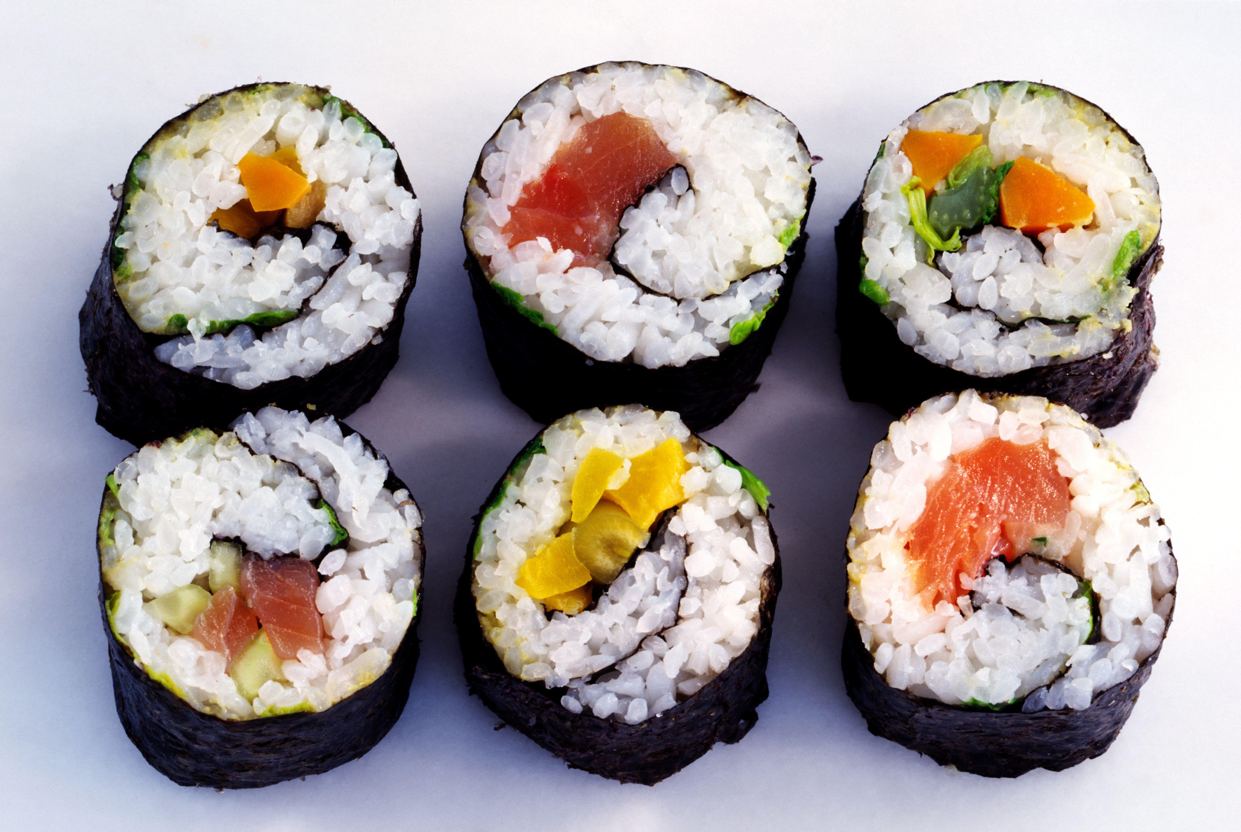 метеорологическому прогнозу, виды суши и роллов фото часть