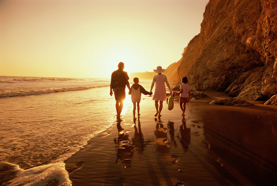 Family on a California Beach