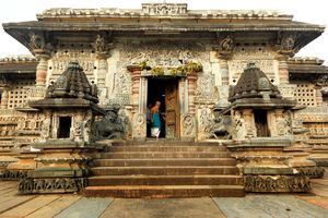 magnificent temple of Hoysala Architecture in Belur Karnataka.