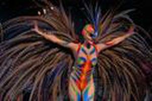 A dancer at Lido cabaret in Paris.