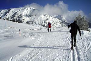 Skiing in Candanchu, Spain