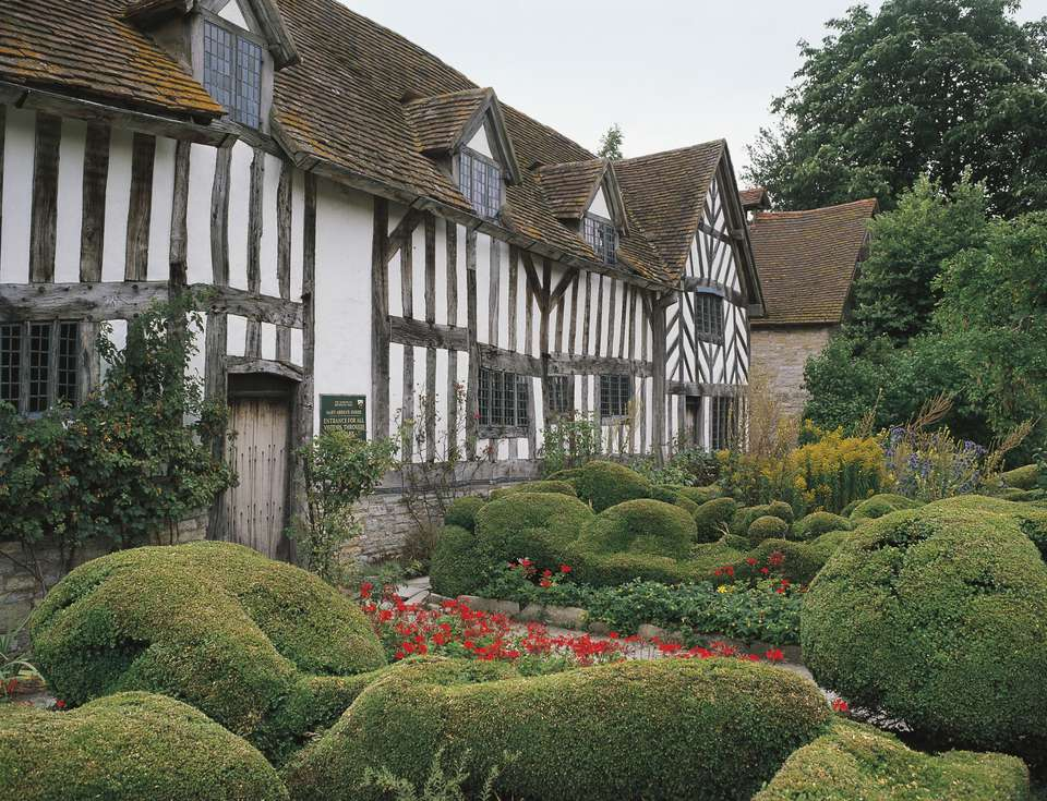 Mary Arden's House, William Shakespeares mother, Wilmcote, near Stratford-upon-Avon, England, United Kingdom - stock photo Mary Ardens House, William Shakespeares mother, Wilmcote, near Stratford-upon-Avon, England, United Kingdom.