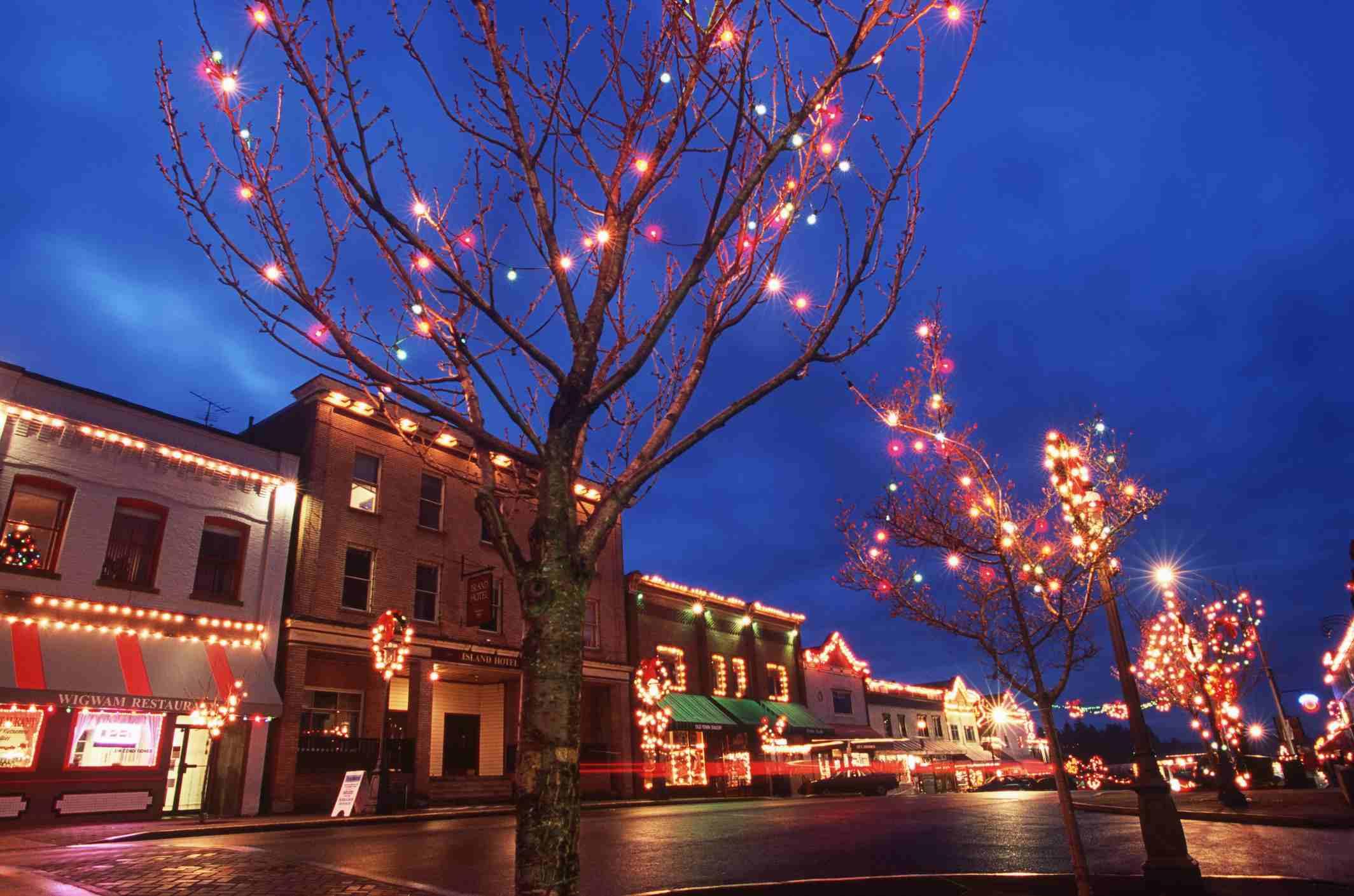 Winter light festival in Canada