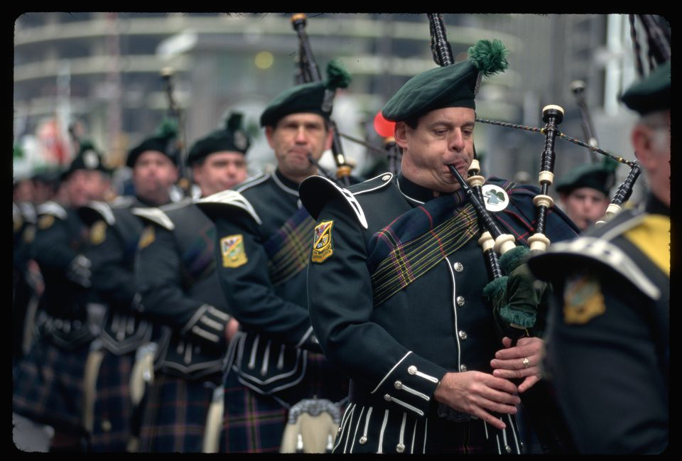 Bagpipers in St. Patrick's Day Parade
