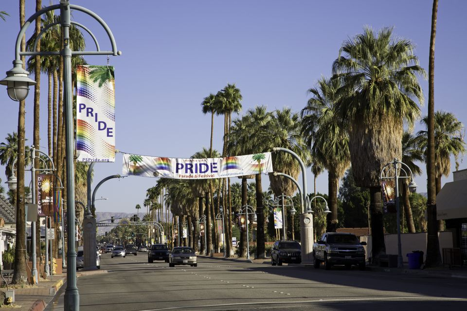 Pride Banners On Palm Canyon Drive