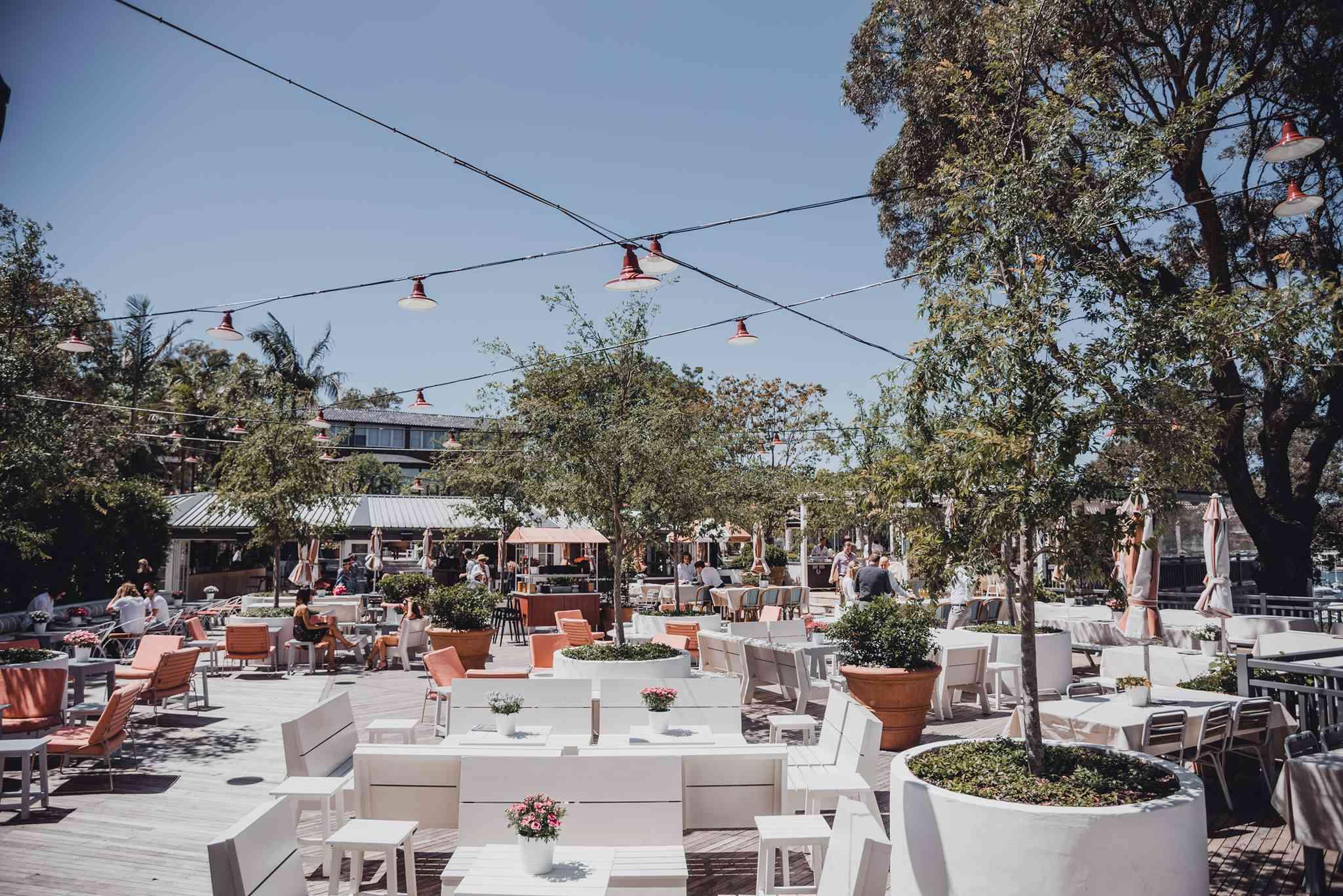 The Newport beer garden