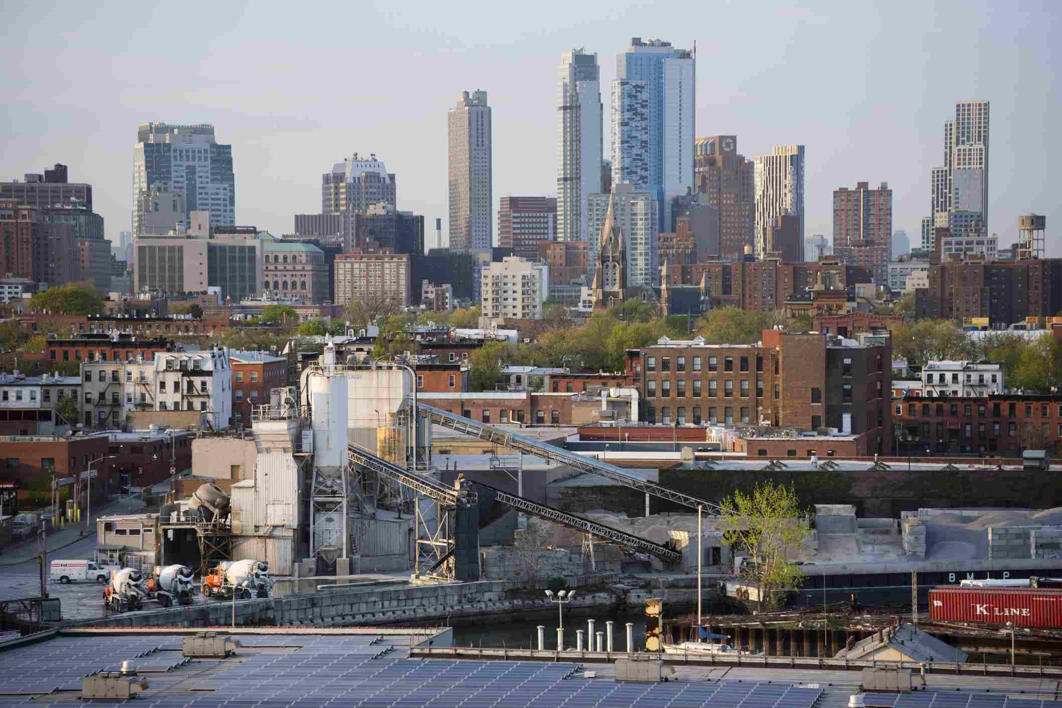 USA, New York State, New York City, Panorama of Brooklyn