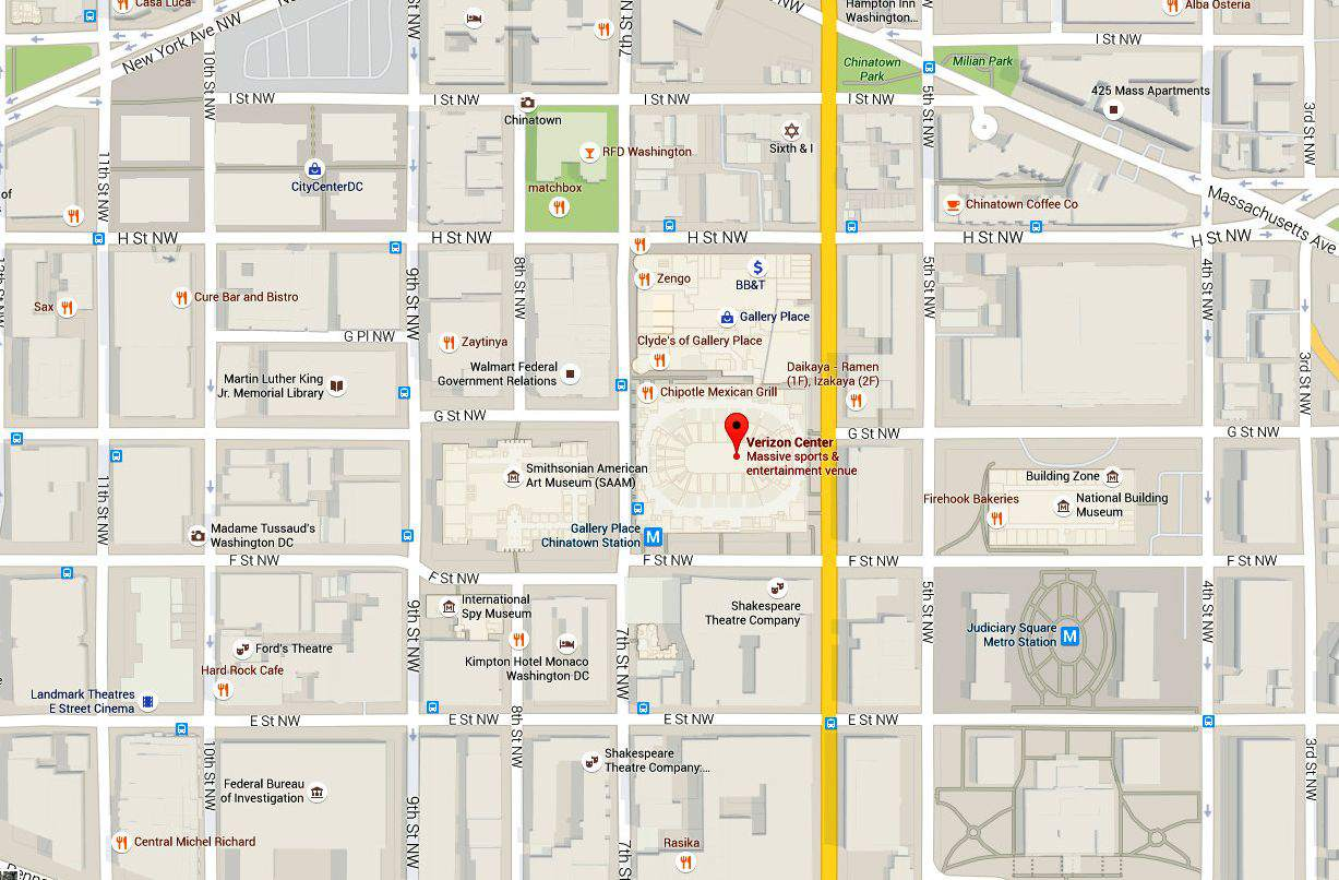 Capital One Arena Maps and Directions: Washington DC on