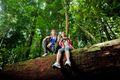 Tourists visiting Similajau National Park, Sarawak, Malaysia