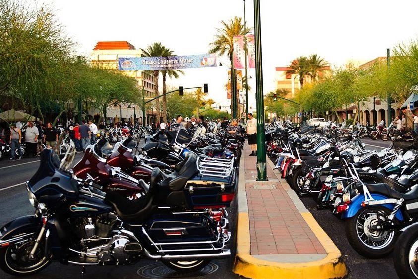 Motorcycles on Main in Mesa, AZ