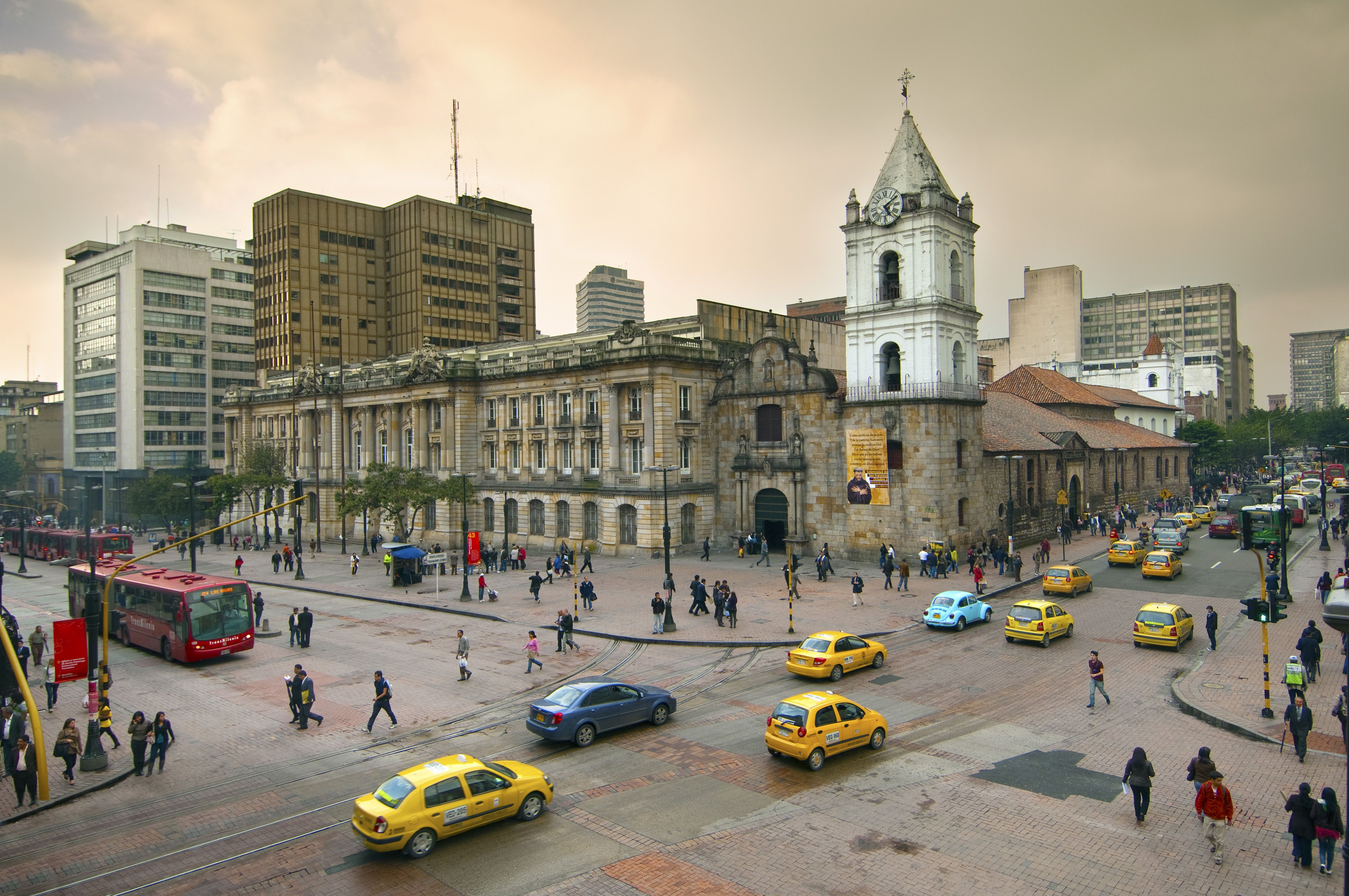 Colombia, Bogota, 16th century Iglesia de San Francisco, Bogota's Oldest Restored Church, Intersections of Avendia Jimenez and Carrera Septima
