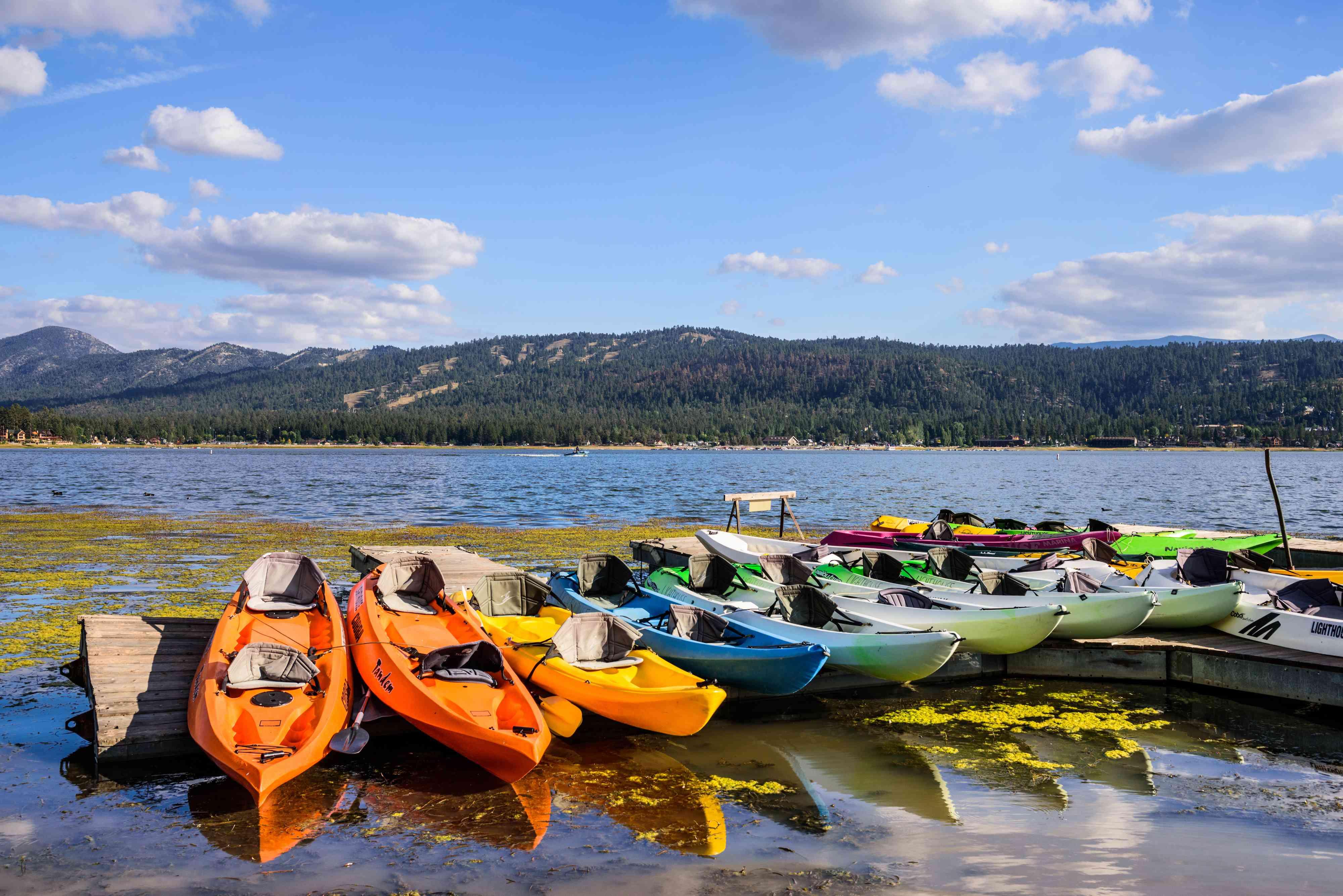 Kayaks on Big Bear Lake