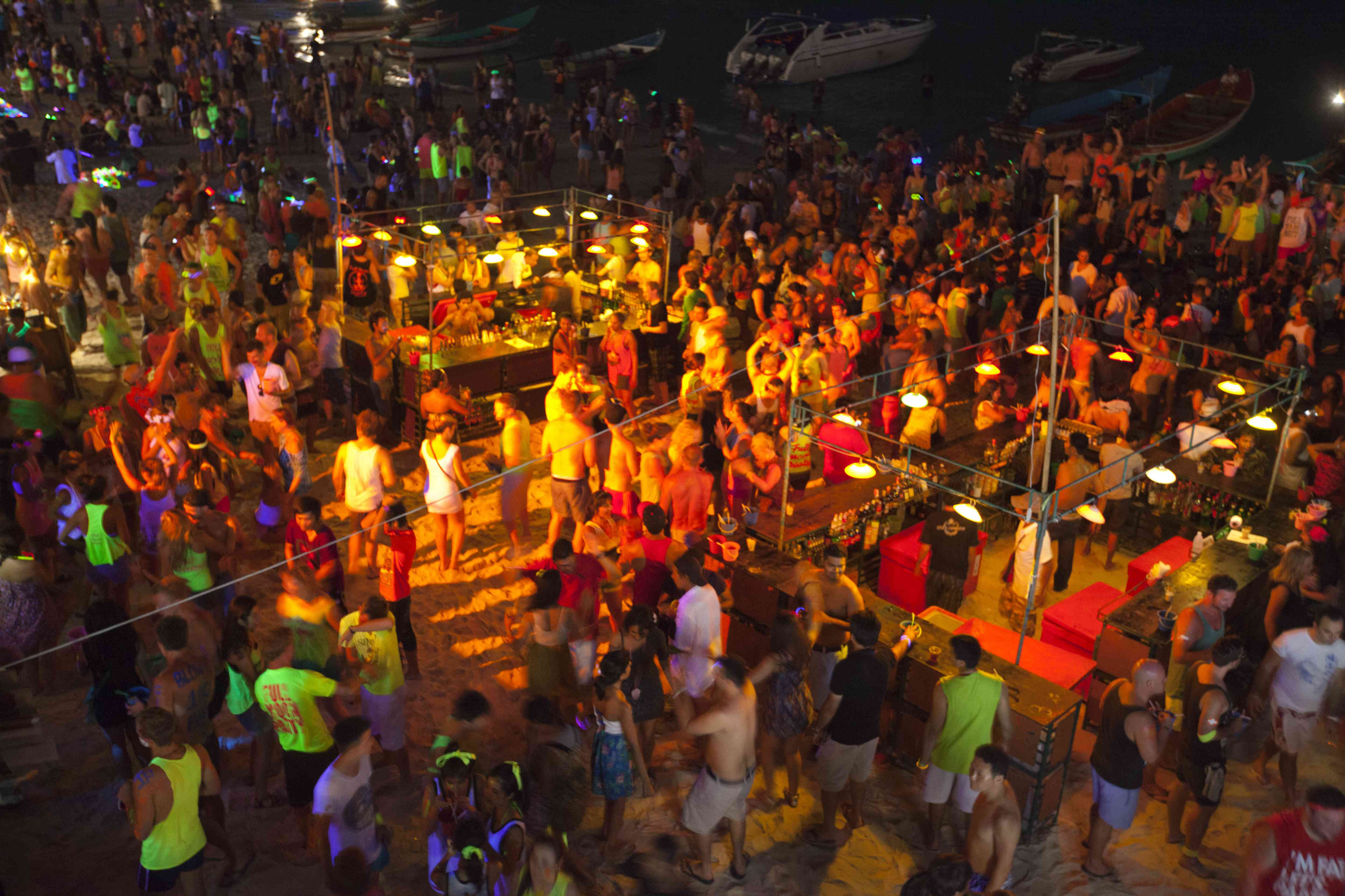 The Full Moon Party in Koh Phangan, Thailand