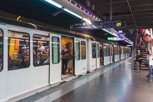 Underground Metro and subway train in Marseille, Provence, France, Europe