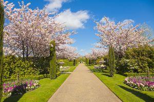Regent Park in spring, London, UK