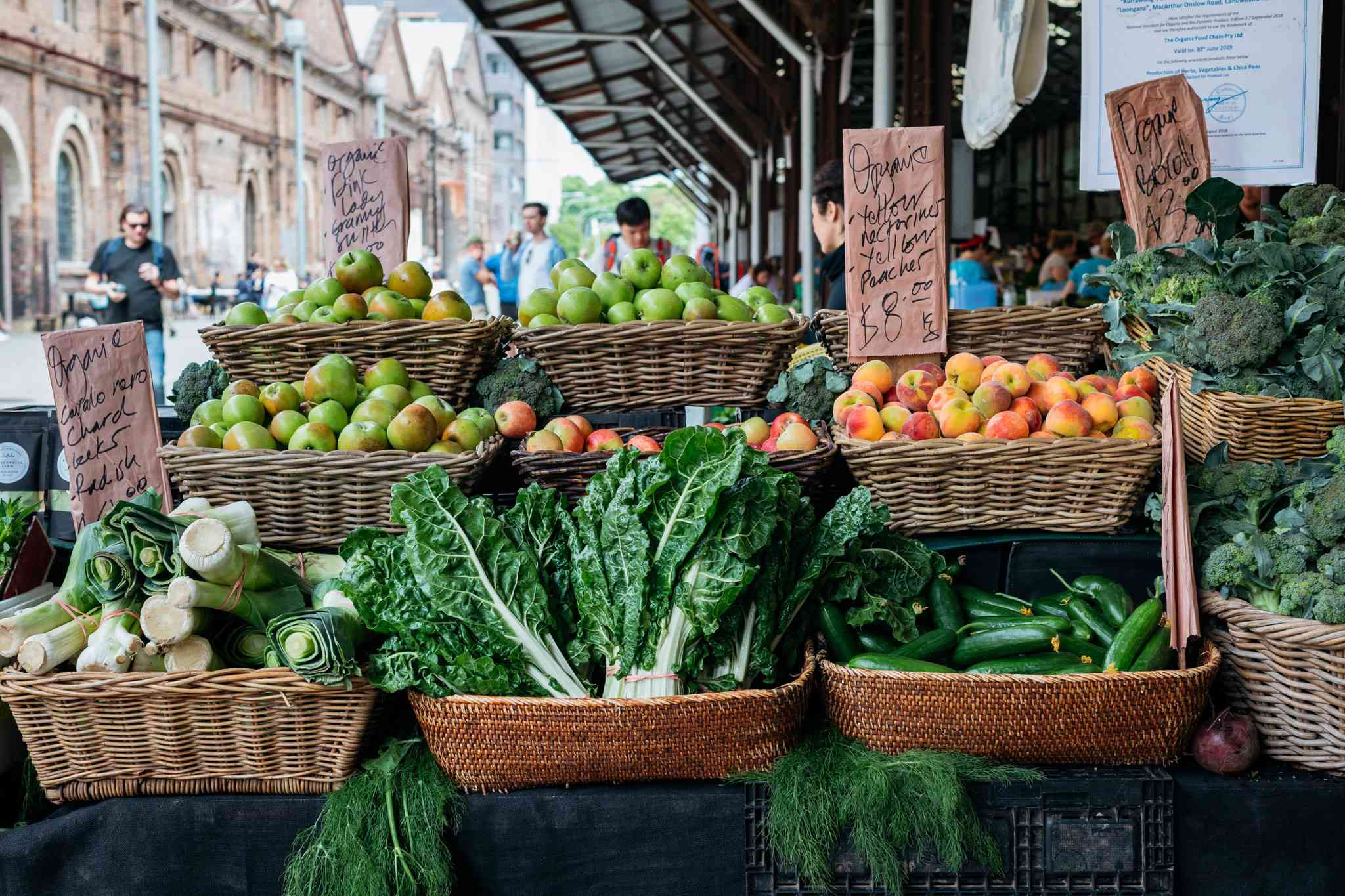 Produce at the Carriageworks Farmers Markets