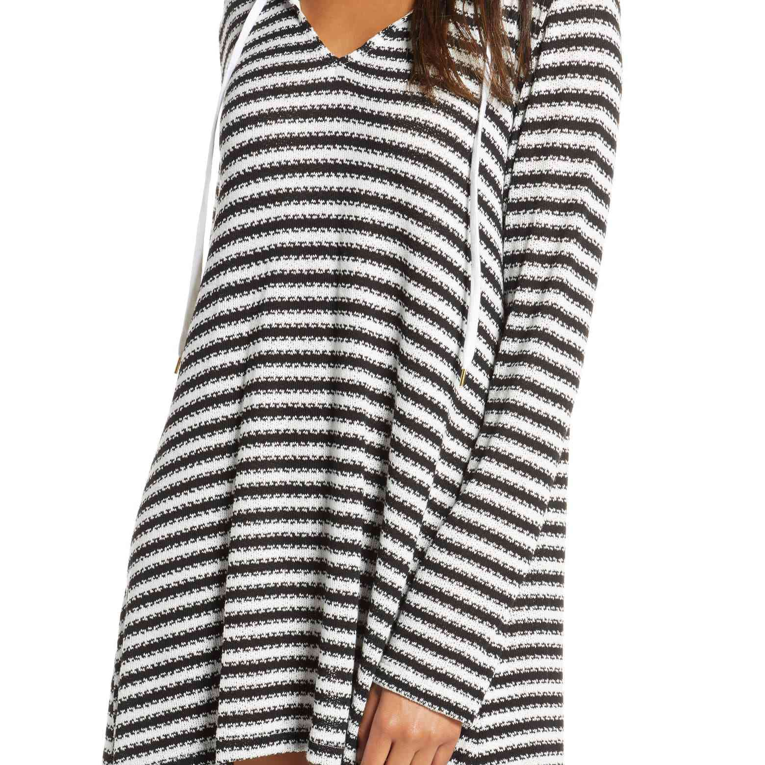 La Blanca Slouchy Hooded Cover-Up Tunic