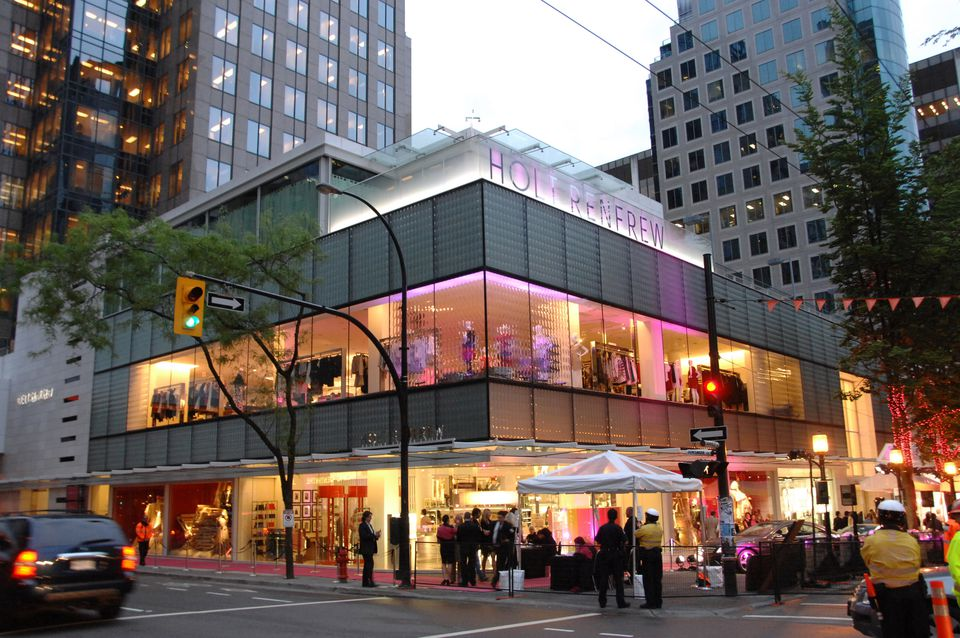 exterior of Holt Renfrew in Vancouver, BC